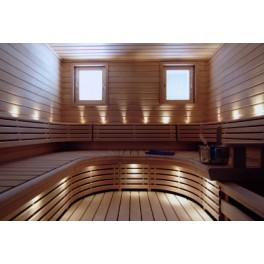 Sauna LED valgustus 9tk, Kuldse korpusega